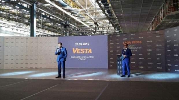 АВТОВАЗ провел тест-драйв Vesta за день до церемонии запуска модели