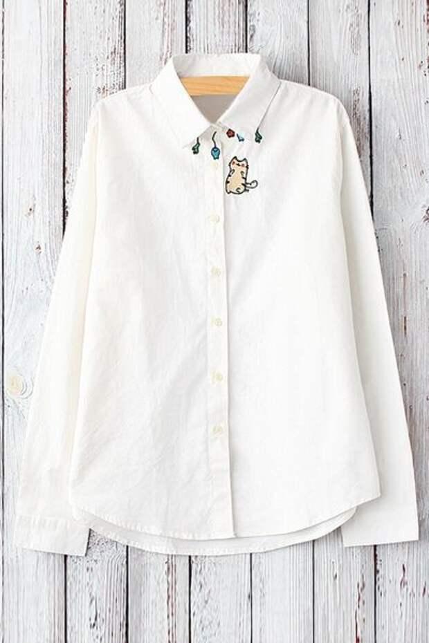 Блузки с современной вышивкой (идеи)