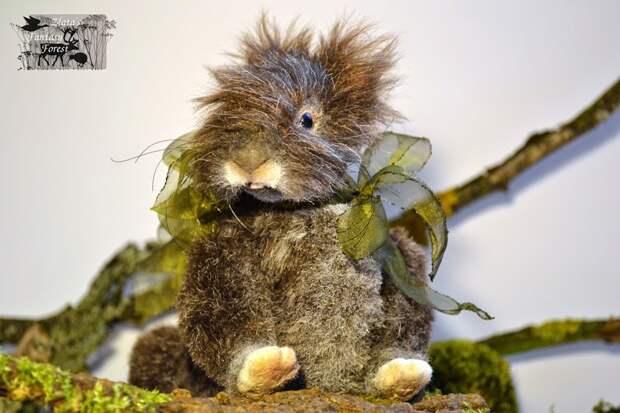 Скульптура ручной работы животные из искусственного меха!