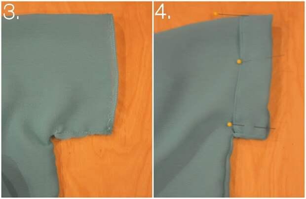 Блузка с округлой спинкой (Diy)
