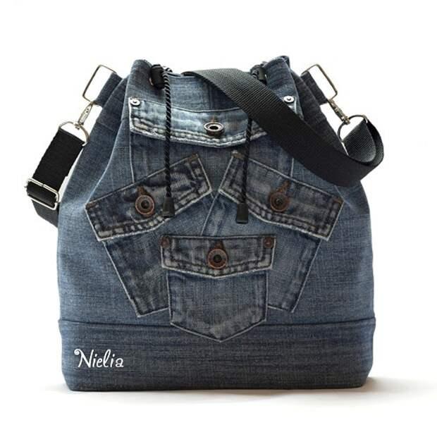 Переделка джинсов в сумку