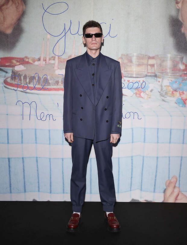 Александр Гудков на показе Gucci в Милане