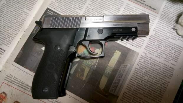 Российский травматический пистолет Р226Т ТК-Р: внешний вид и характеристики