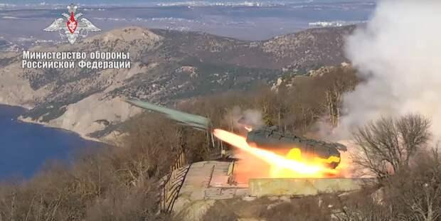 Видео пусков ракет БРК «Утес» по условному противнику