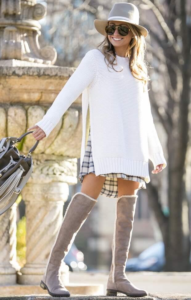 Объёмные вещи сезона, вязаная мода 2016, модные вязаные вещи 2016, модный джемпер крупной вязки (фото 1)