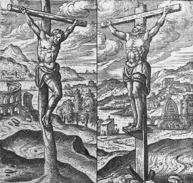 Распятие на кресте.