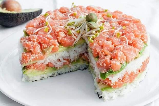 Салат Суши. Любители японских блюд оценят этот оригинальный салатик 2