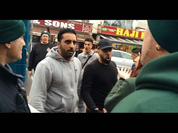 Провокация: Христианский патруль в исламском квартале Лондона