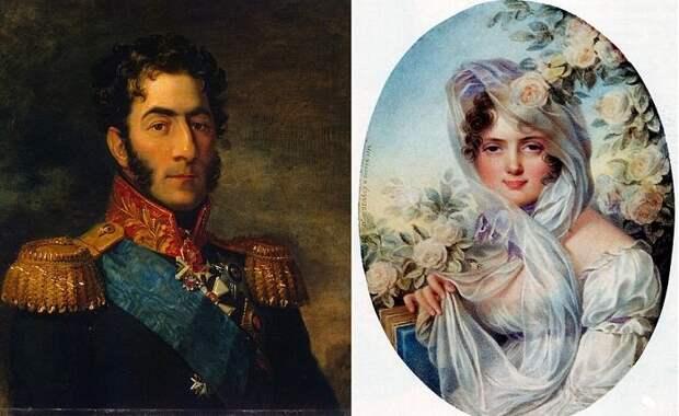Генерал Петр Иванович Багратион и  Екатерина Скавронская         фото:kulturologia.ru