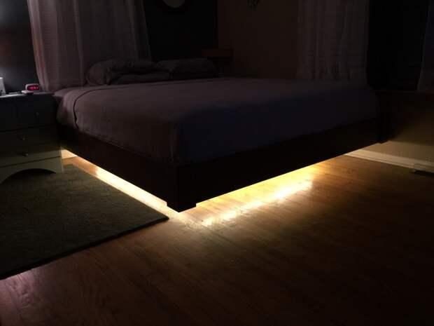 Кровать с подсветкой (парящая кровать) своими руками