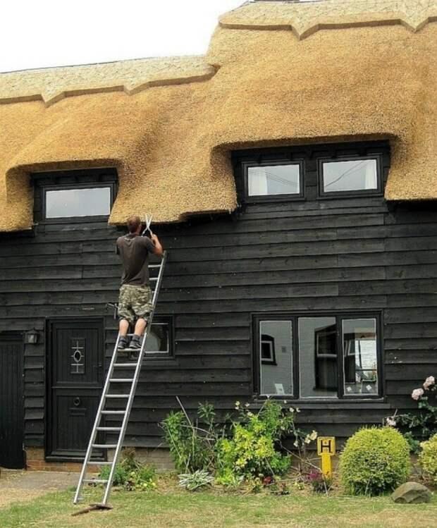 Многослойность дает эффект округлости и делает даже современный дом похожим на пряник. /Фото:trasyy.livejournal.com