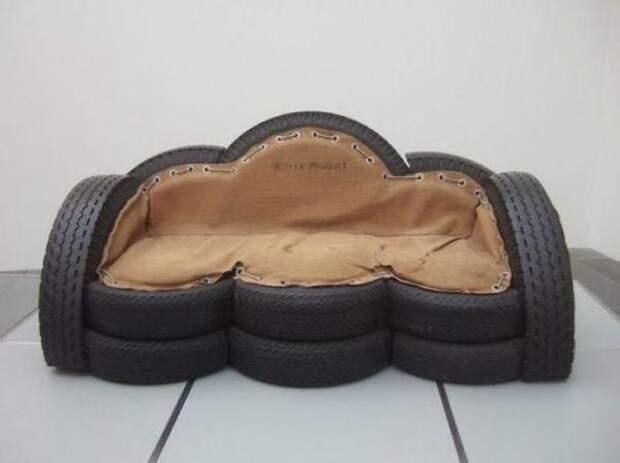 Прикольные идеи использования старых шин