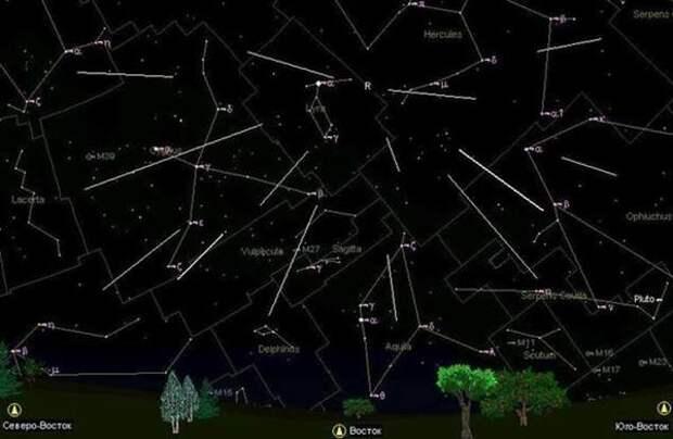 Начался первый весенний звездопад из созвездия Лиры