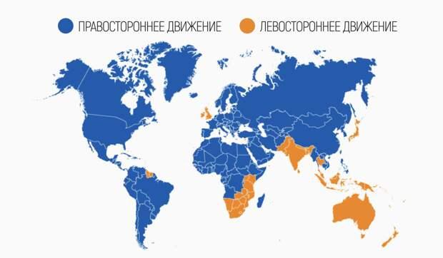 Почему в ряде стран левостороннее движение