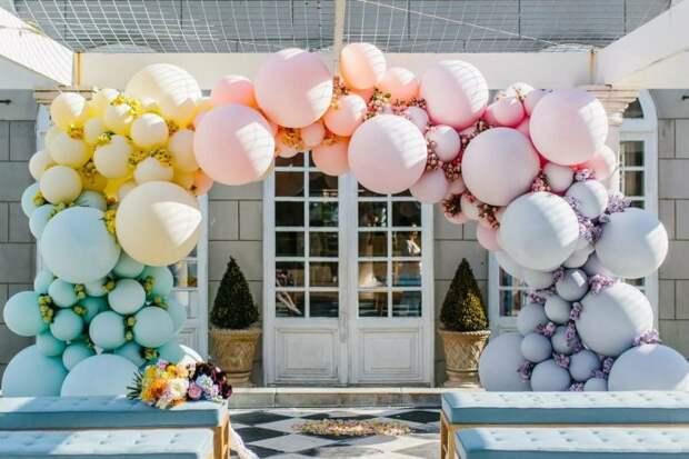 Украшение праздника воздушными шарами
