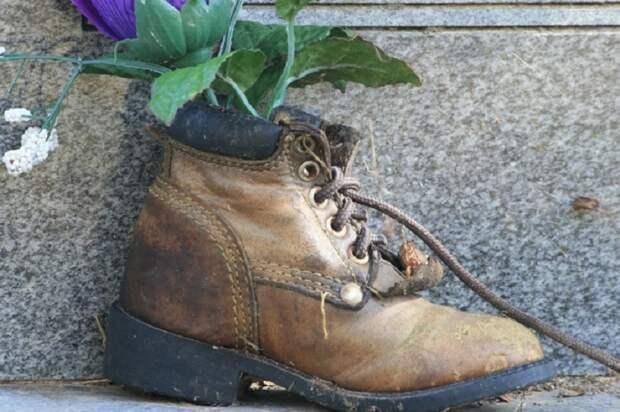 вазон в ботинке