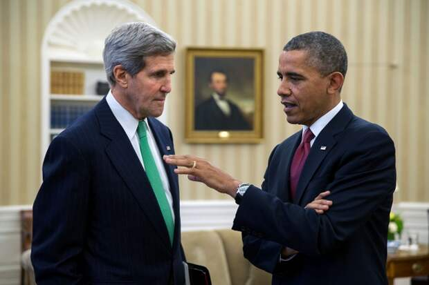 Обама и Керри 20 лет спустя