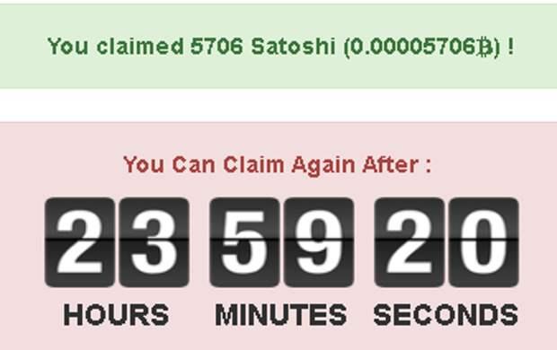 5706 Сатоши за один клайм!