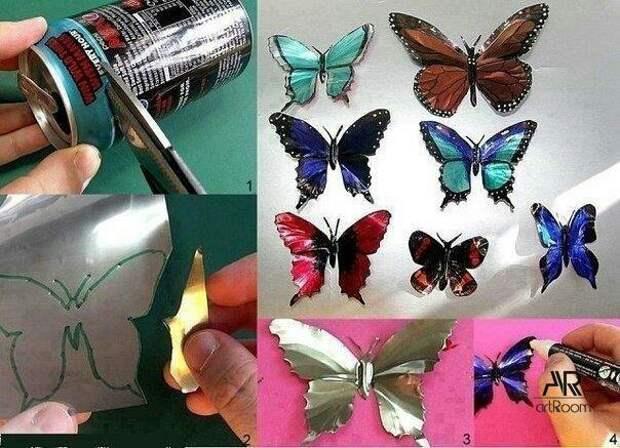 Мусорные бабочки (Diy)