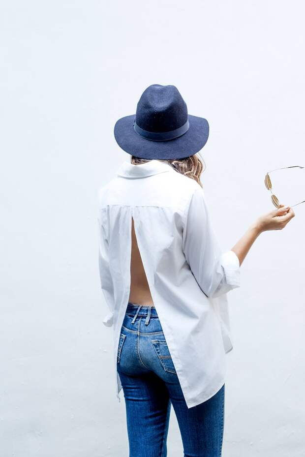Переделка спинки блузки (Diy)
