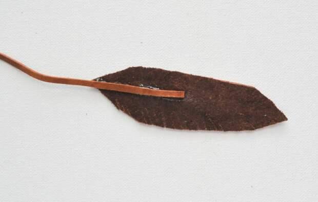 Кожаные перья (Diy)