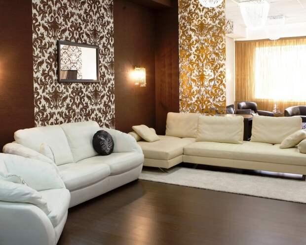 Картинка гостиная, бежевый, стиль, Интерьер, дизайн, коричневый 1280x1024 скачать обои на рабочий стол бесплатно 54965