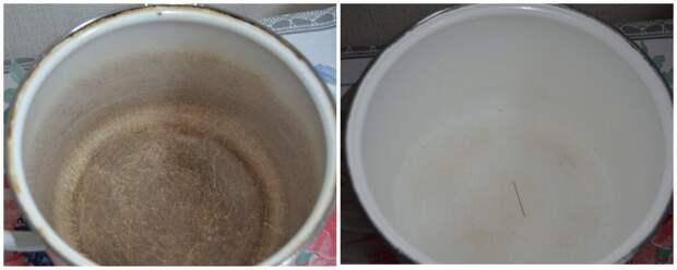 Самый безопасный способ вернуть белизну старой эмалированной посуде
