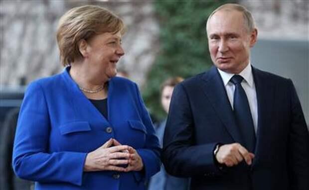 """Меркель сообщила, что обсудила с Путиным """"Северный поток-2"""" и договоренности с США"""