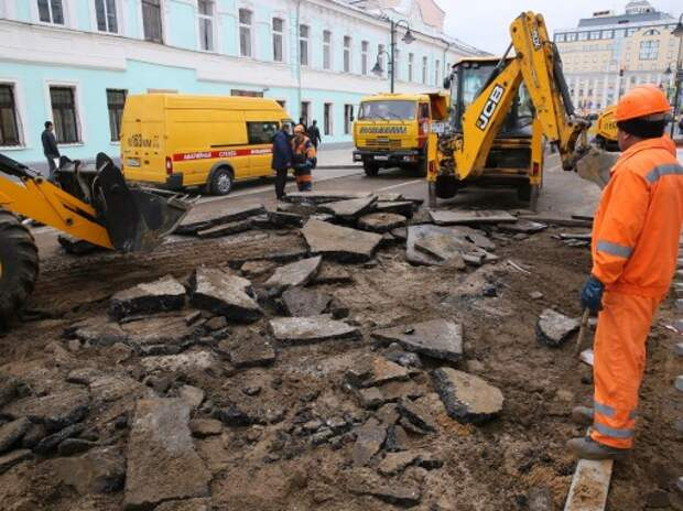 В Москве для борьбы с подтоплениями переложат асфальт с правильным уклоном