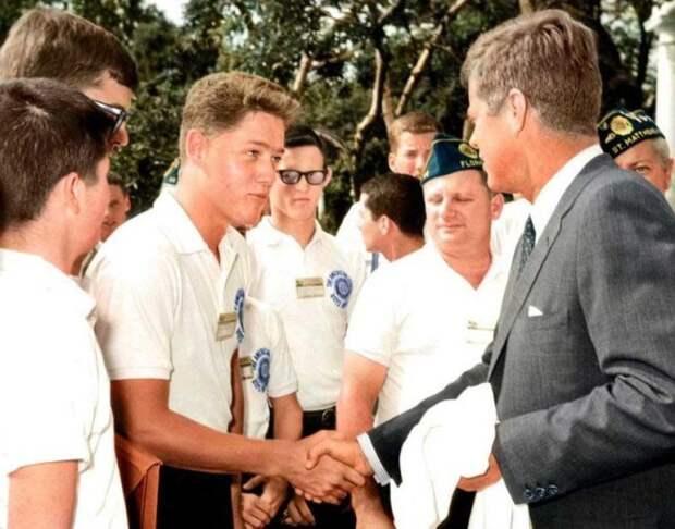 Юный Билл Клинтон знакомится с Джоном Кеннеди интересно, история, фото