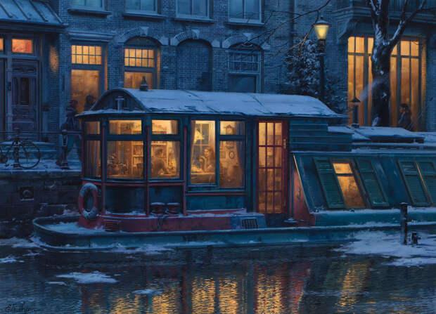 Теплые зимние картины от Евгения Лушпина