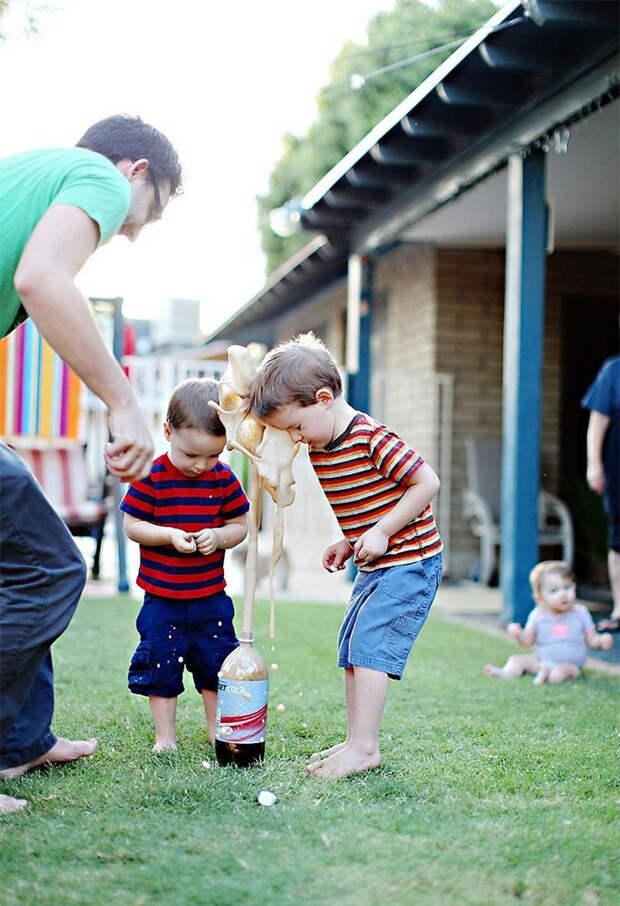 37. Дети и газировка момент, фотография