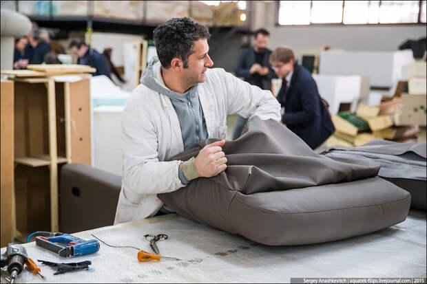 Как делают итальянские диваны