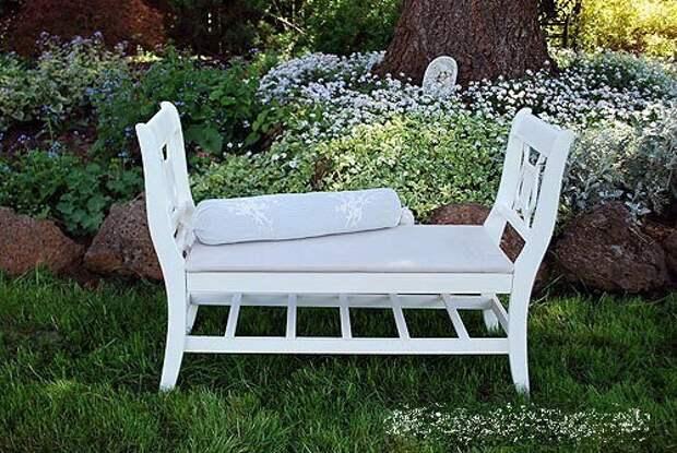 САМОДЕЛКИ. Ретро-скамейка из старых стульев