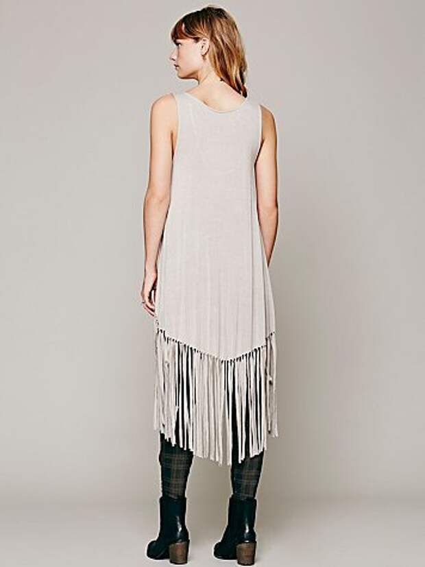 Майко-платье с бахромою Free People