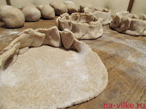 Ржаные пирожки Калитки с картошкой