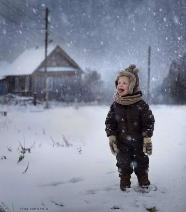 15 зимних фото о счастливом детстве в деревне