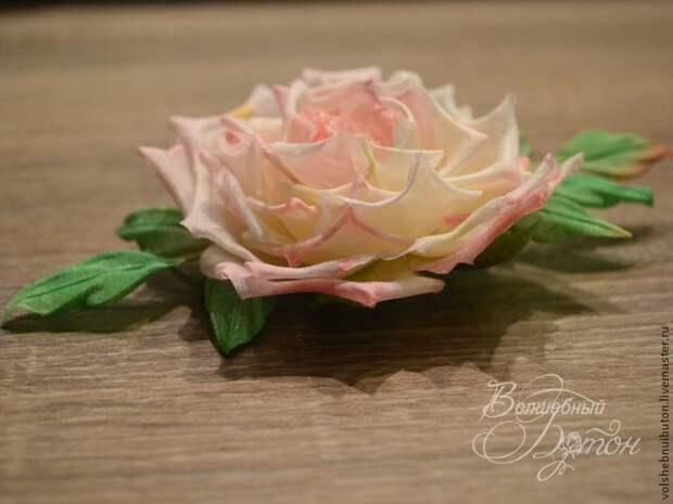Роза из шелка. Мастер-класс для начинающих