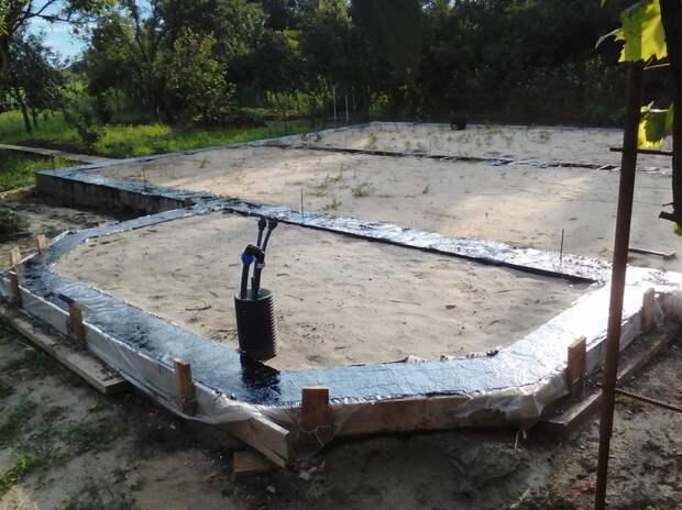 Завершающие работы по устройству фундамента для дома и пристройка фундамента для котельной