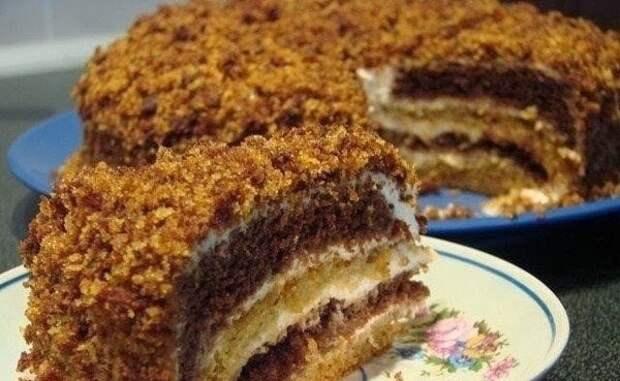 Очень вкусный торт сметанник