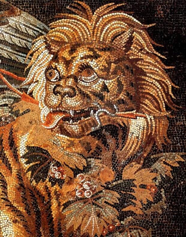 Античное искусство: мозаики Помпей и Геркуланума с изображением животных.