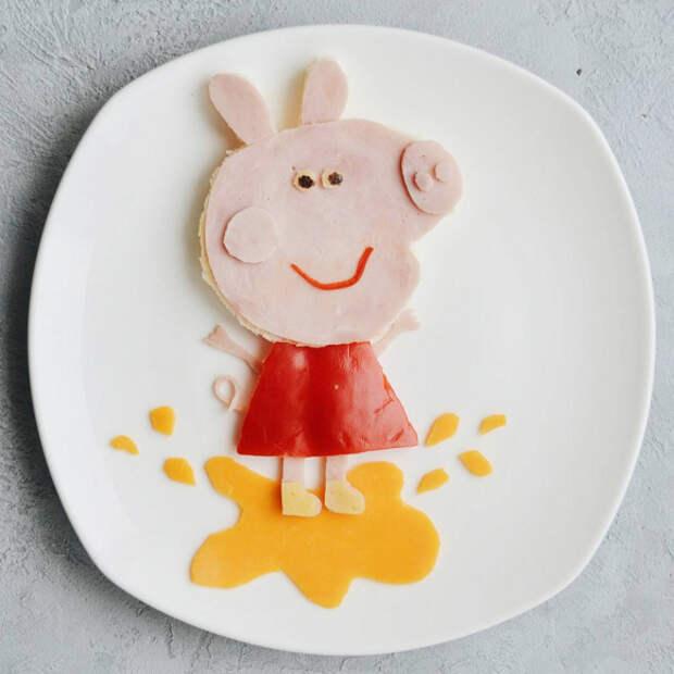 10 способов превратить детский завтрак в мультфильм на тарелке