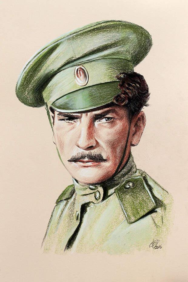 Легенды советского кино в картинах художника Владислава Волегова.