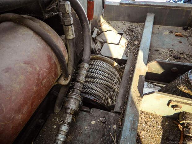 Лебёдку и редукторы использовали от польского грузовика STAR 66. самоделка, своими руками, трактор