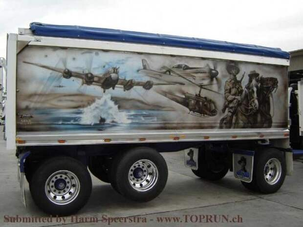 Искусство аэрографии на грузовиках аэрография, грузовик, искусство, рисунок, фура