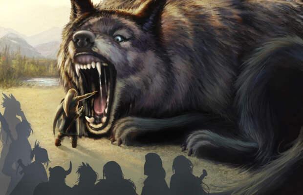 Фенрир из скандинавской мифологии