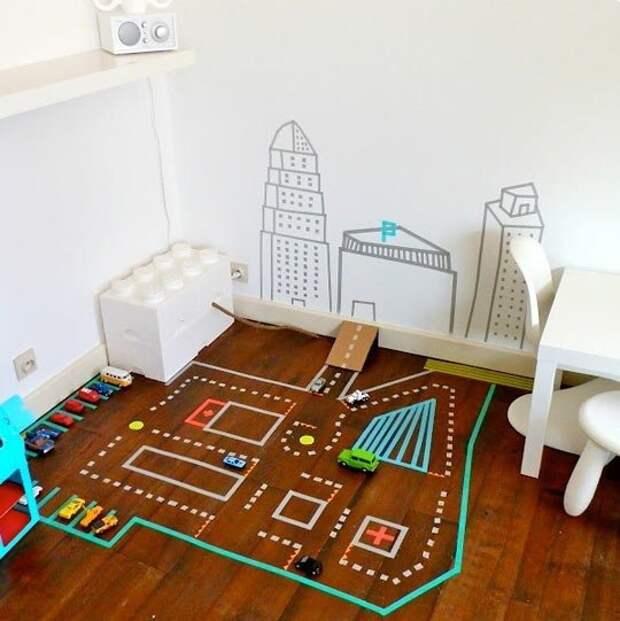 Скотч в детской комнате