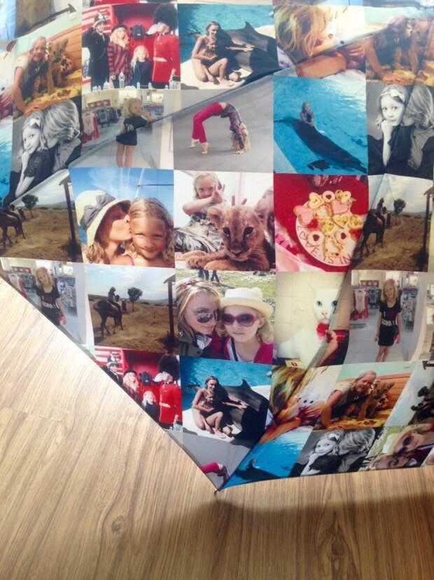 Зонт с фотографиями из Инстаграмма