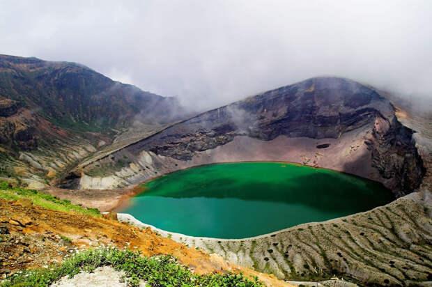 3. Озеро Окама, гора Зао, Япония в мире, озеро, природа
