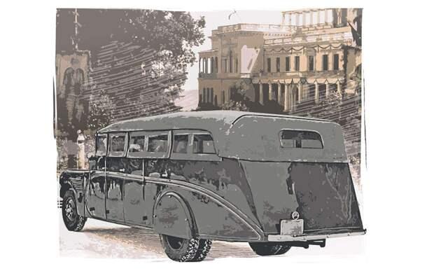 Особенный советский автобус — его сделали для НКВД (ну или для курортников)